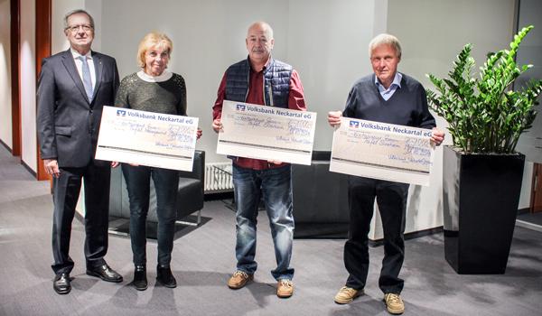 Volksbank Neckartal-Stiftung unterstützt Tafeln und Musikschulen