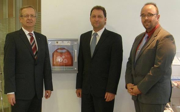 Übergabe Defibrillator Waibstadt